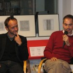 RENAUD BUENERD ET FRANCOIS GROSSO, FONDATEURS DES EDITIONS DU CHEMIN DE FER, A LA BIBLIOTHEQUE DE ROMORANTIN LE 12 NOVEMBRE 2009
