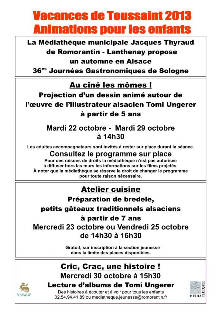 affiche toussaint 2013